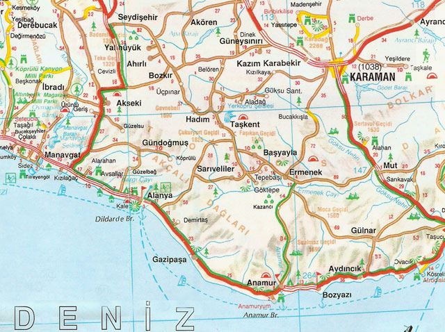 Karaman, Harita