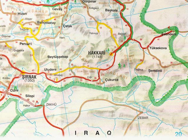 Hakkari, Şırnak, Harita